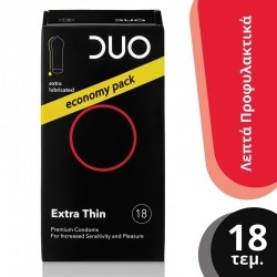 Duo Extra Thin Προφυλακτικά Πολύ Λεπτά 18 τμχ