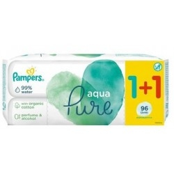 Pampers Aqua Pure Μωρομάντηλα - 12τεμ (Travel...