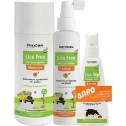 FrezyDerm Lice Free Set Αγωγή με Αντιφθειρική Λοσιόν...