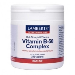 Lamberts B-50 Complex Σύμπλεγμα Βιταμινών Β 250Tabs