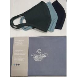 Korres Σετ Υφασμάτινων Μασκών Size 02 Μπλε...