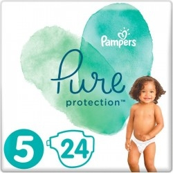 Pampers Pure Protection Πάνες Νο 5 (11+Kg) 24 τμχ