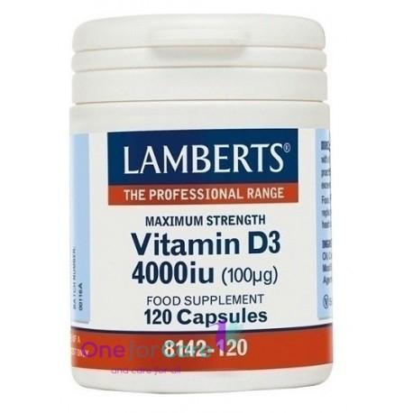Lamberts Vitamin D3 4000iu Συμπλήρωμα Διατροφής...