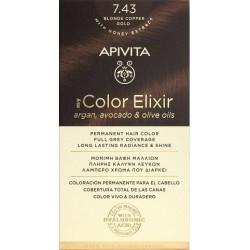Apivita My Color Elixir Βαφή Μαλλιών 7.43 Ξανθό...