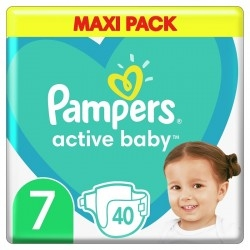Pampers Active Baby Maxi No 7 (15+kg) 40τμχ
