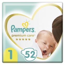 Pampers Premium Care No 1 (2-5Kg) 52τμχ