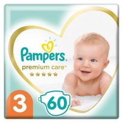 Pampers Premium Care Πάνες No 3 (5-9kg) 60 τμχ