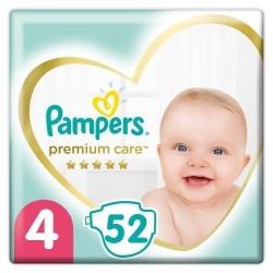 Pampers Premium Care Πάνες No 4 (9-14kg) 52τμχ
