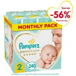 Pampers Premium Care No 2 (4-8kg) Monthly Pack 240 τεμ