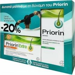 Bayer Priorin Πακέτο -20% με Priorin Extra 60Caps...