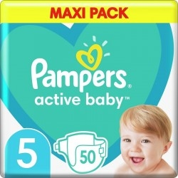 Pampers Active Baby Maxi Νο5  (11-16 kg) 50τμχ