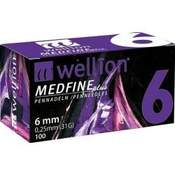 Wellion Medfine Plus 6mm 31G Βελόνες Πένας...