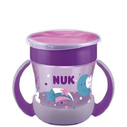 Nuk Mini Magic Cup Night με Χείλος 360° Μωβ 160ml 6+m