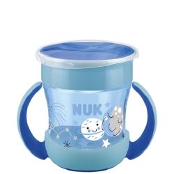 Nuk Mini Magic Cup Night με Χείλος 360° Μπλε 160ml 6+m