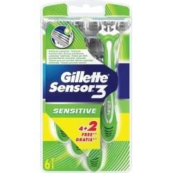 Gillette Sensor 3 Sensitive Ξυραφάκια 4+2 ΔΩΡΟ