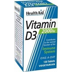 Health Aid Vitamin D3 2000iu Βιταμίνη D3 για...