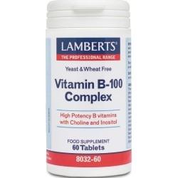 Lamberts Vitamin B-100 Complex Σύμπλεγμα Βιταμινών B...