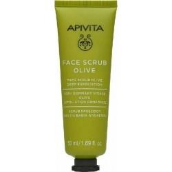 Apivita Face Scrub Olive Κρέμα με Ελιά για Βαθιά...