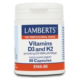 Lamberts Vitamin D3 1000iu & K2 90µg Σύμπλεγμα...
