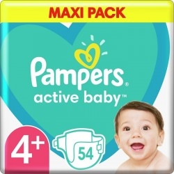Pampers Active Baby Maxi No4+ (10-15kg) 54τμχ