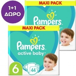 Pampers 1+1 ΔΩΡΟ Active Baby Maxi No6 (13-18kg)...