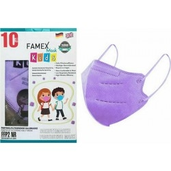 Famex Mask Kids FFP2 NR Παιδική Μάσκα Προστασίας Μωβ...