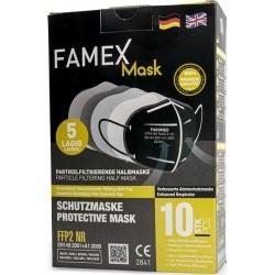 Famex Mask FFP2 NR Μάσκα Προστασίας Μαύρη 1τμχ