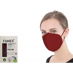 Famex Mask FFP2 NR Μάσκα Προστασίας Μπορντό 1τμχ