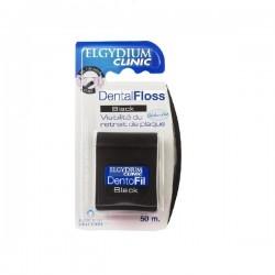 Elgydium Dental Floss Black Mαύρο Οδοντικό Νήμα 50m