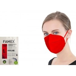 Famex Mask FFP2 NR Μάσκα Προστασίας Κόκκινη 1τμχ
