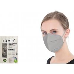 Famex Mask FFP2 NR Μάσκα Προστασίας Γκρι 10τμχ