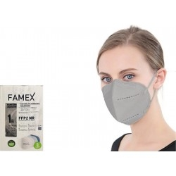 Famex Mask FFP2 NR Μάσκα Προστασίας Γκρι 1τμχ