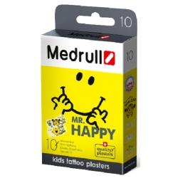 Medrull Mr. Happy Kids Tattoo Plasters Αδιάβροχα...