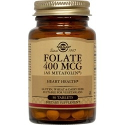 Solgar Folate (As Metafolin) Φολικό Οξύ 400mg 50Tabs