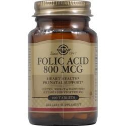 Solgar Συμπλήρωμα Διατροφής Folic Acid 800mg 100Tabs