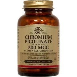 Solgar Chromium Picolinate Πικολινικό Xρώμιο 200mg...