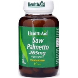 Health Aid Saw Palmetto 265mg 30Tabs