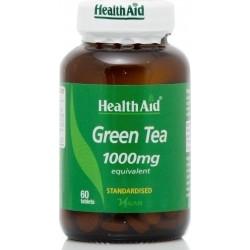 Health Aid Green Tea Πράσινο Τσάι 1000mg 60Tabs