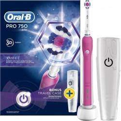 Oral-B Pro 750 3D White Pink Colour Ηλεκτρική...