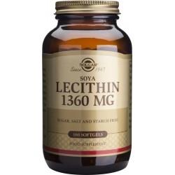 Solgar Lecithin Λεκιθίνη Σόγιας 1360mg 100Gels