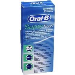 Oral-B Super Floss Μεσοδόντιο Οδοντικό Νήμα 50τμχ