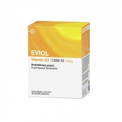 Eviol Vitamin D3 1200iu 30mg 60Soft Caps