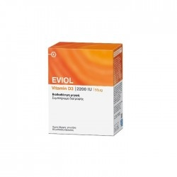 Eviol Vitamin D3 2200iu 55μg 60Soft Caps