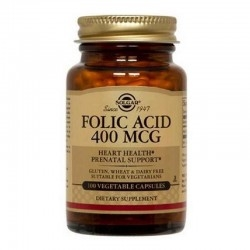 Solgar Συμπλήρωμα Διατροφής Folic Acid 400mg 100Tabs