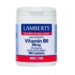Lamberts  Vitamin B6 50mg (Πυριδοξίνη) 100 tabs