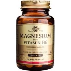 Solgar Magnesium+B6 Μαγνήσιο & Βιταμίνη Β6 100Tabs