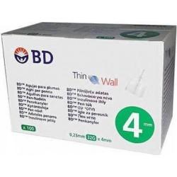 BD Thin Wall Αποστειρωμένες βελόνες ινσουλίνης 4mm x...