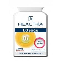 Healthia Vitamin D3 5000IU Συμπλήρωμα Διατροφής με...