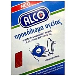 Alco Νέο Προκάθισμα Υγείας 10τμχ  Σε Ατομική Συσκευασία
