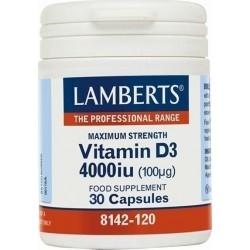 Lamberts Vitamin D3 4000iu Υγεία Οστών Δοντιών...